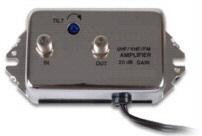 20dB UHF / VHF / FM Distribution Amplifier UHF / VHF / FM Sloped 20dB amplifier with Tilt Control