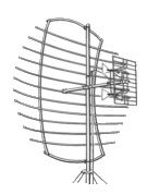 PARA-SCOPE 6' UHF Antenna