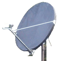 2.4 Meter Offset Dish snow and ice satellite dish cover
