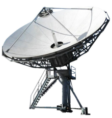 Large Earth Station Satellite Feed Support System Arms