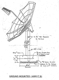 Ground Pole Mount Satellite Install Drawing