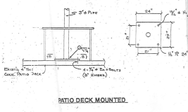 Alternate Larger Baseplate Ground Mount Install Drawing