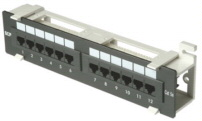 CAT 5E 12 Port Vert. Patch Panel