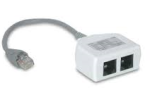 Ethernet Splitter for 1x VOIP + 1x PC, Pigtail Type, 10/100 BaseT 1P/2J 07
