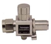 RP SMA-Plug to RP SMA-Jack Bulkhead 0-6 GHz 90V Surge Lightning Protector