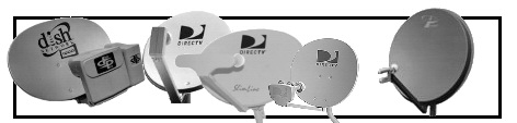 "Small Dish - 10"" inch, 14"" inch, 16"" inch, 18"" inch, 20"" inch, 24"" inch, 30""inch, 36"" inch, DirecTV, Dish Network, FTA, Misc. dish.  -  Click Here."