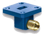 Waveguide to connector - Waveguide Cable Adapter F, N, or SMA