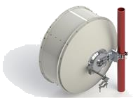 1.2 m | 4 ft ValuLine® High Performance Low Profile Antenna, single-polarized, 10.125–11.700 GHz