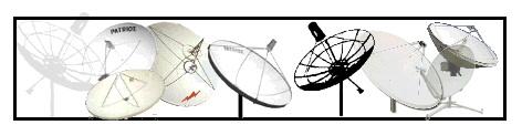 "Medium Dish - 39"" inch (1 meter), 1.1 meter, 1.2 meter (4' foot), 1.5 meter, 1.8 meter (6' foot)  2.4 Meter (8 foot), Misc.  -  Click Here."