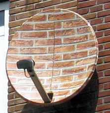 satellite dish antenna in camouflge