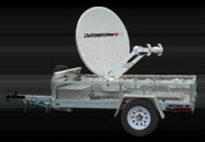 Park and go carrier Satellite Dish Trailer