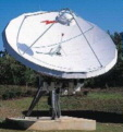 7.6 Meter Dish - C-, X-, Ku- and K-bands with the selection of feed and combiner systems