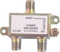 DIPLEXER - CATV - Uhf/Vhf  Comb.