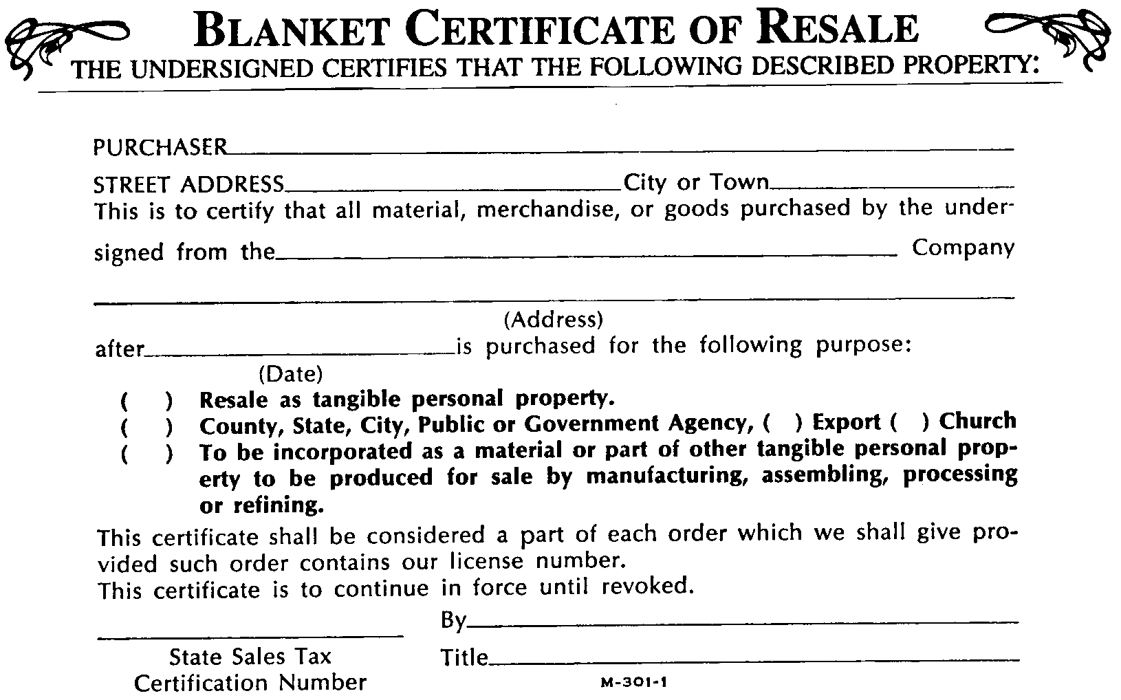 What Is A Blanket Certificate Of Re 7500 Photo Blanket